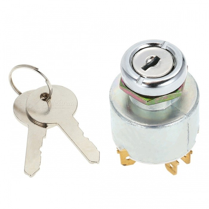 IZTOSS L1605 Car Ignition Switch Lock Start Device with Keys - White