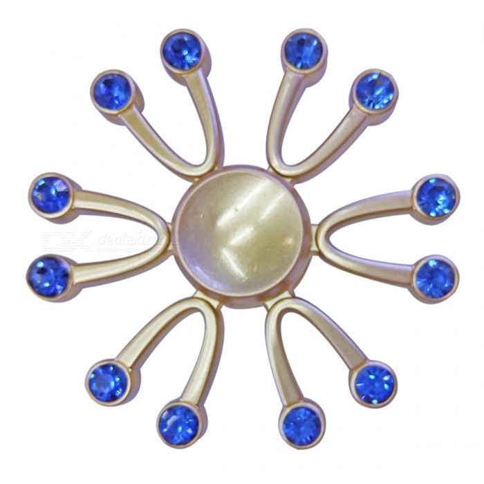 Dayspirit 12-Ruby Decorated Stress Relief Finger Spinner - Blue