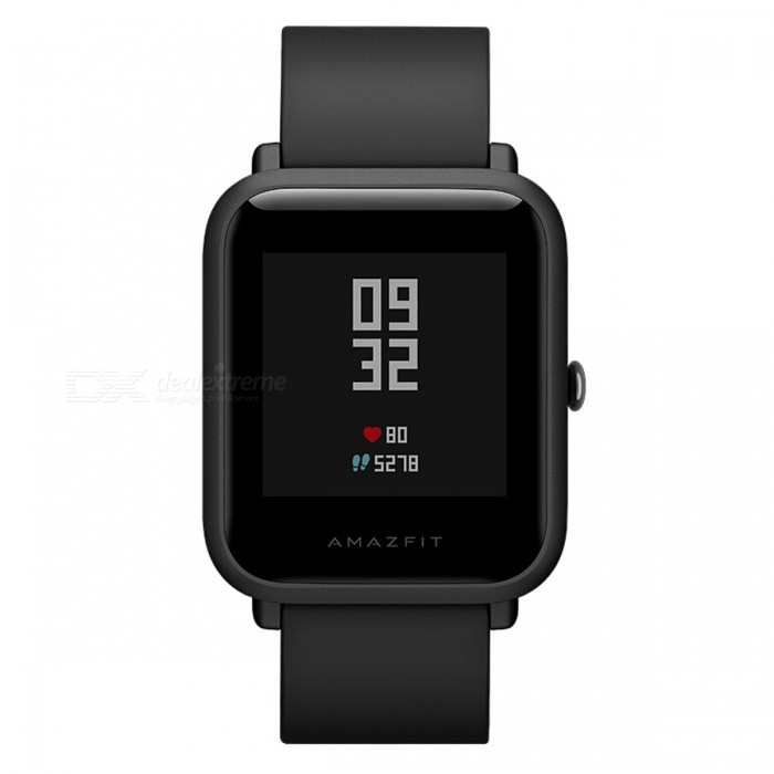 Xiaomi AMAZFIT Youth Edition Sports Smart Watch - BlackSmart Bracelets<br>Form  ColorBlackModelA1608Quantity1 pieceMaterialPlastic cementShade Of ColorBlackWater-proofYesBluetooth VersionOthers,BT4.1Touch Screen TypeOthers,Touch screenOperating SystemAndroid 4.4,iOSCompatible OSAndroid4.4.iOS8.0Battery Capacity190 mAhBattery TypeLi-ion batteryStandby Time45 daysPacking List1 x Watch1 x Recharge stand 1 x User Manual (Chinese)<br>