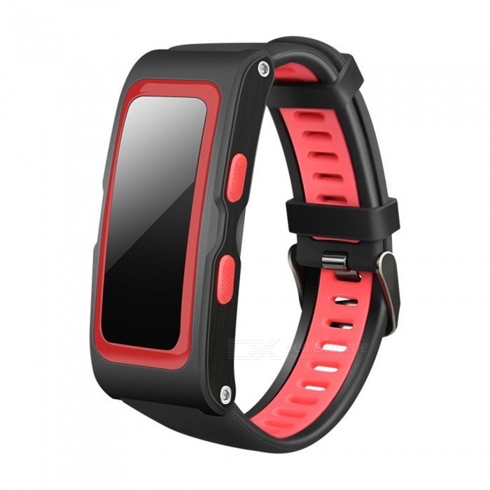 Ordro S20 GPS Smart Bracelet with Heart Rate Monitor - Red