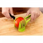 P-TOP Lemon Tomato Potato Slicer, Egg Food Clip Cutter - Green