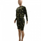 Casual Leisure Fashion Camouflage Jacket Pants Suit (L)