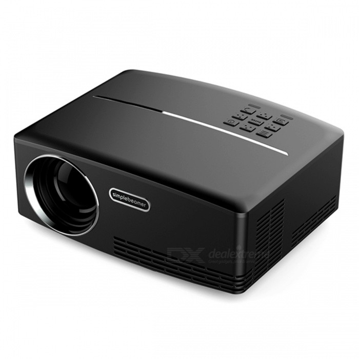 Vivibright GP80 Mini Portable Projector for Home Theatre - BlackProjectors<br>Form  ColorBlackBrandVivibrightModelGP80Quantity1 pieceMaterialPC+ABSShade Of ColorBlackOperating SystemNoTypeLCDChipsetMstarBrightness1000~1999 lumensBrightness1800 lumensMenu LanguageEnglish,French,German,Italian,Spanish,Portuguese,Russian,Polish,Greek,Danish,Norwegian,Dutch,Hungarian,Slovak,Czech,Romanian,Swedish,Finnish,Chinese Simplified,Bulgarian,SerbianBuilt-in SpeakersYesLife Span30,000 hoursEmitter BINLEDLens EffectsWide angleDisplay Size28-180inchesAspect RatioOthers,16:9, 4:3Contrast Ratio1800:1Pixels800 x 480PixelsNative Resolution800 x 480Maximum Resolution1080PMaximum Resolution1920 x 1080Throw Distance1.2-5.5MBuilt-in Memory / RAMNoStorageNoExternal Memory32GBAudio FormatsMP3,WMA,AC3,AACVideo FormatsRMVB,AVI,MKV,MOV,MP4,VOB,MPGPicture FormatsJPEG,BMP,PNG,GIFInput ConnectorsAV,VGA,USB,HDMIInput ConnectorsVGA/AV x1; HDMI x1; USB x2;Output ConnectorsAudio x1Power Consumption60W~79WPower Consumption60WPower SupplyAC 90-240V, 50/60HzPower AdapterEU PlugCertificationCE/FCC/ROHS/3COther FeaturesNoPacking List  1 x AC Adapter  1 x IR remote control  1 x video/RCA Cable   1 x Projector with lens cap  1 x Quick Start User Manual<br>