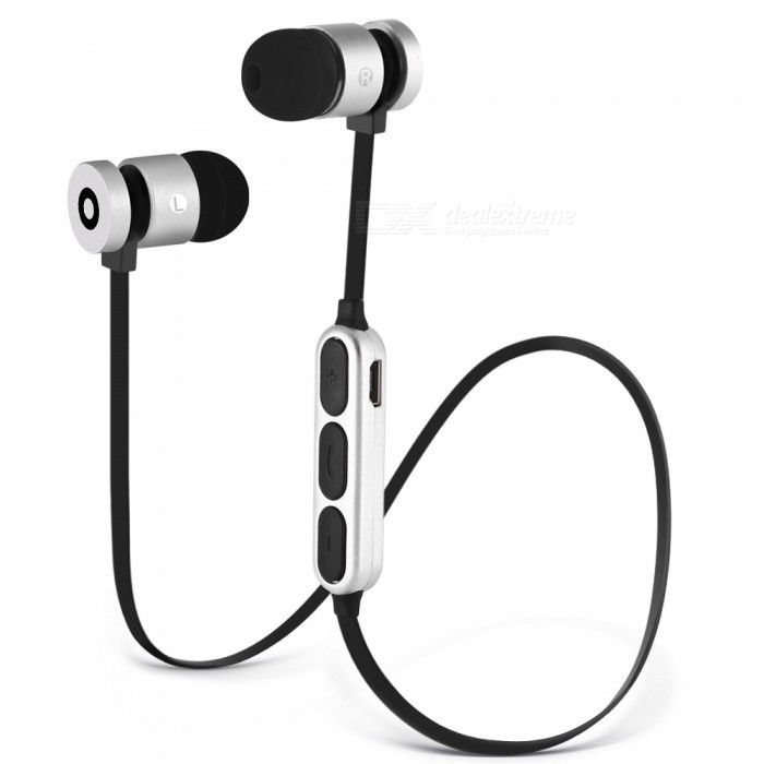 W1 Magnetic Necklace Bluetooth V4.2 Sport Earphone - Black