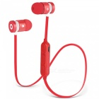 W1 Magnetic Necklace Bluetooth V4.2 Sport Earphone - Red