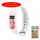LOPBE Protective Film for Xiaomi Miband 2 Bracelet -Deep Pink Girl (C)