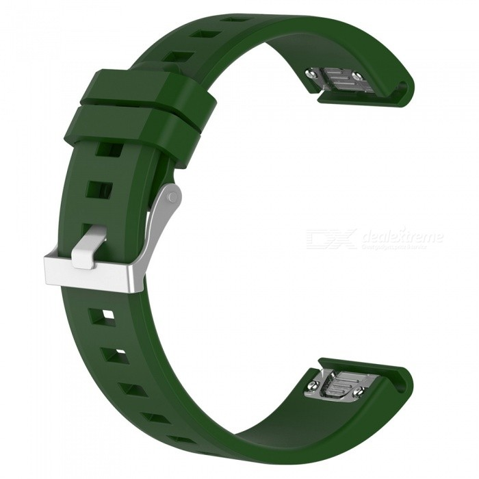 Smart Watches Silicone Watchband For Garmin Fenix5 22mm - Army Green