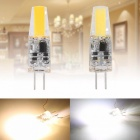 JRLED G4 2W 1505 COB Warm White ampoules LED (10PCS) AC, DC 12V