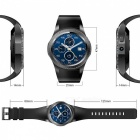 "GW11 1.3"" OLED 3G Wi-Fi Smart Watch with Heart Rate Monitor - Black"