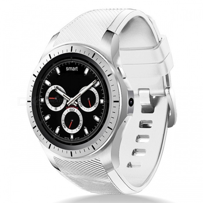 """GW10 1.3"""" OLED 3G Wi-Fi Smart Watch with Heart Rate Monitor - White"""