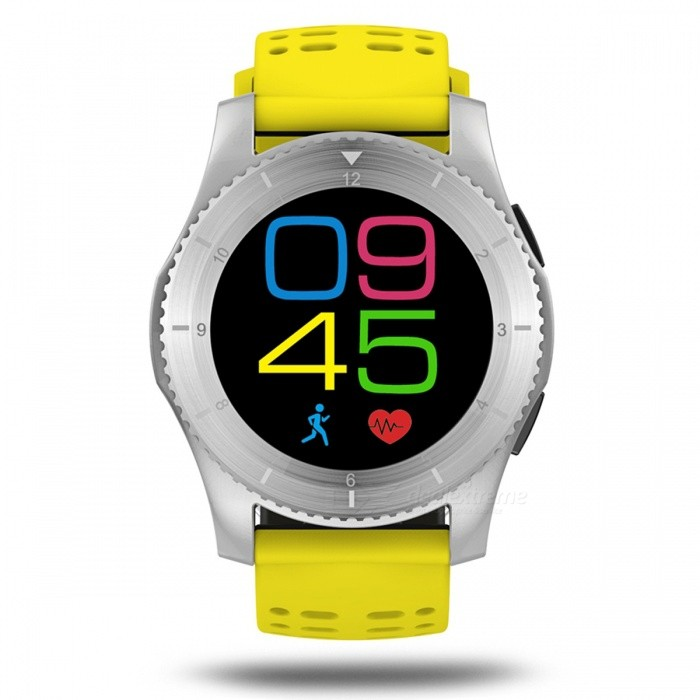 G8 Bluetooth Smart Watch with GPS Heart Rate MonitorSmart Watches<br>Form  ColorSilver + YellowQuantity1 setMaterialABSShade Of ColorSilverCPU ProcessorMTK2502Screen Size1.3 inchScreen Resolution240 x 240Touch Screen TypeYesBluetooth VersionBluetooth V4.0Compatible OSAndroid OSLanguageChinese, Traditional, English, German, Spanish, Italian, French, Portuguese (Portuguese), Portuguese (Brazil), Russian, Indonesian, Malay, Polish, Vietnamese, Hebrew, Arabic, Persian , Thai, Burmese, TurksWristband Length22 cmWater-proofNoBattery ModeNon-removableBattery TypeLi-polymer batteryBattery Capacity300 mAhStandby Time10 daysPacking List1 x GS8 Bluetooth Smar1 x User manual<br>