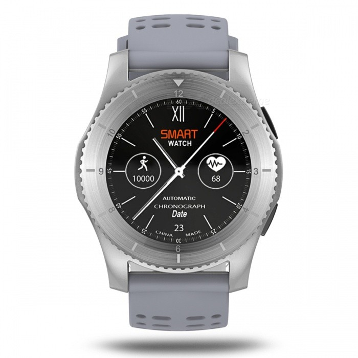G8 Bluetooth Smart Watch with GPS Heart Rate MonitorSmart Watches<br>Form  ColorSilver + GreyQuantity1 setMaterialABSShade Of ColorSilverCPU ProcessorMTK2502Screen Size1.3 inchScreen Resolution240 x 240Touch Screen TypeYesBluetooth VersionBluetooth V4.0Compatible OSAndroid OSLanguageChinese, Traditional, English, German, Spanish, Italian, French, Portuguese (Portuguese), Portuguese (Brazil), Russian, Indonesian, Malay, Polish, Vietnamese, Hebrew, Arabic, Persian , Thai, Burmese, TurksWristband Length22 cmWater-proofNoBattery ModeNon-removableBattery TypeLi-polymer batteryBattery Capacity300 mAhStandby Time10 daysPacking List1 x GS8 Bluetooth Smar1 x User manual<br>