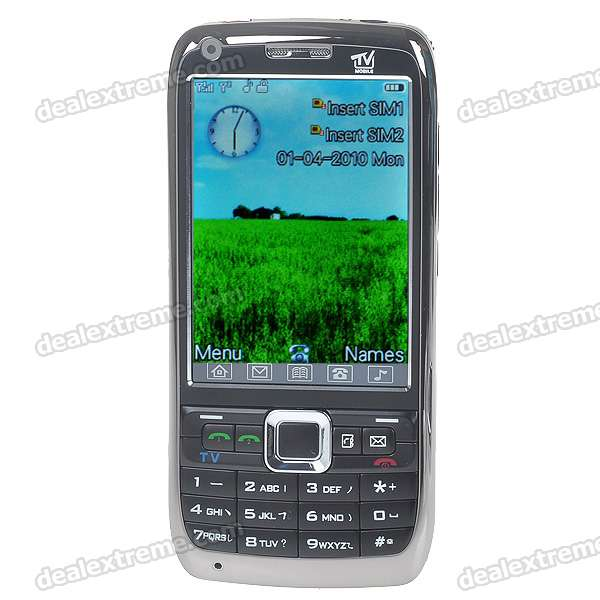 "H888 3,0 ""Touch Screen Dual SIM Dual Network Standby Quadband GSM TV Cell Phone w / FM + JAVA - Black"