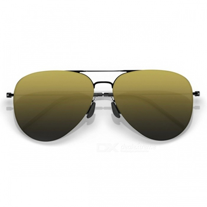 Xiaomi TS Protective Nylon Polarized Sunglasses - Golden, GreySunglasses<br>Frame ColorGreyLens ColorGoldenQuantity1 setShade Of ColorGoldFrame Material304H stainless steelLens Materialnylon polarized lenses food grade silicone nose tube legsProtectionImpact resistanceGenderUnisexSuitable forAdultsFrame Height5 cmLens Width6 cmBridge Width2.5 cmOverall Width of Frame14 cmPacking List1 x Sunglasses1 x User manual1 x Cloth<br>