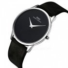Enkel Fashion Ultra Slim Mäns Quartz Watch - Svart