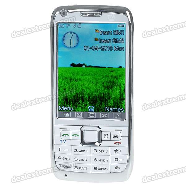 "H888 3.0"" Touch Screen Dual SIM Dual Network Standby Quadband GSM TV Cell Phone w/FM + JAVA - White"