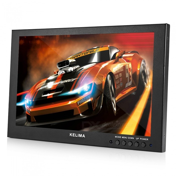 "KELIMA 10.1"" Car HDMI VGA Monitor Display with BNC Interface (EU Plug)"