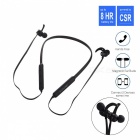 IN-Color Premium Portable Bluetooth Sports In-Ear Earphone - Black