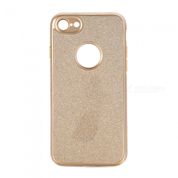 Shining Powder Decorated TPU Back Case for IPHONE 7 - Golden
