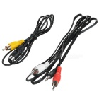 PC to TV Cable (S-Video + 3.5mm to Composite AV) 5 ft
