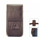 Universal Protective Leather Case for IPHONE, Samsung - Deep Brown