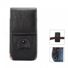 Universal Protective Leather Case for IPHONE, Samsung - Black