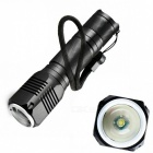 ZHISHUNJIA YF1017 400lm Convex Lens LED Zooming Flashlight - Black