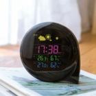 BSTUO LCD Weather Station Temperature Humidity Alarm Clock (EU Plug)