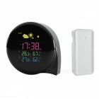 BSTUO LCD Weather Station Temperature Humidity Alarm Clock (US Plugs)