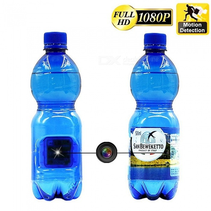 Water Bottle Shape Full HD Hidden Camera with Motion Detection - BlueCCTV Cameras<br>Form  ColorBlue (EU Plug)MaterialABS TranslucentQuantity1 pieceImage SensorCMOSPower AdapterUSBPacking List1 x Bottle body1 x Bottle Cap1 x Camera body1 x Charger10 x Stickers1 x User Manual (English)<br>
