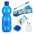 Water Bottle Shape Full HD Hidden Camera with Motion Detection - Blue