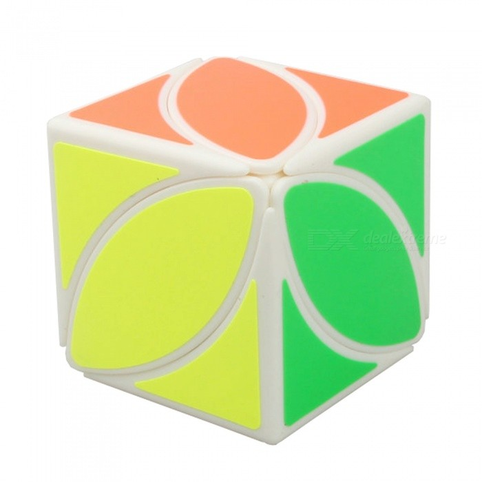 Creative Maple Leaf Pattern Magic Cube Toy - WhiteMagic IQ Cubes<br>Form  ColorWhiteMaterialABSQuantity1 pieceType3x3x3Suitable Age 8-11 years,12-15 years,Grown upsPacking List1 x Cube<br>