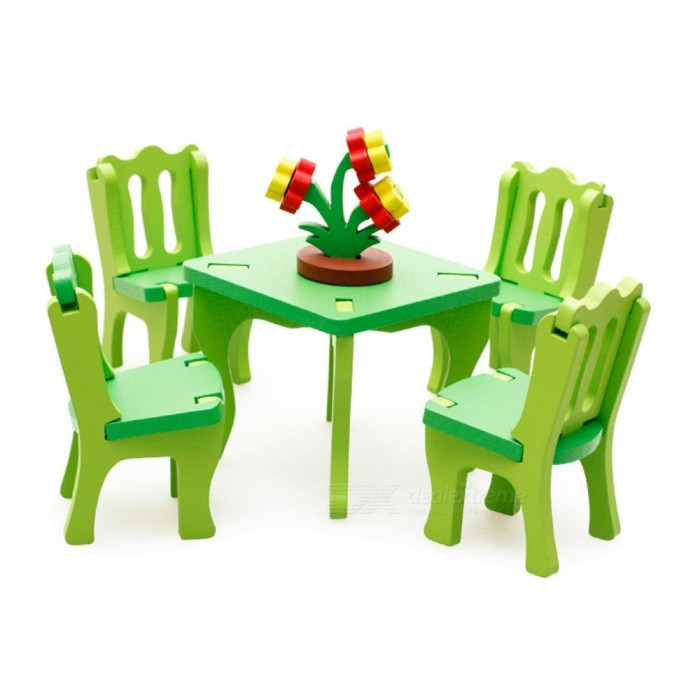 Maikou 3D Childrens Puzzle Wooden Table with Chairs Set ToysBlocks &amp; Jigsaw Toys<br>Form  ColorMulticolorMaterialWoodQuantity1 setNumber27Size9.2cm x 9.2cm x 8cmSuitable Age 12-15 years,Grown upsPacking List1 x Table4 x Chairs1 x Potted plant<br>