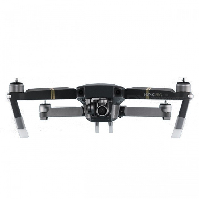 Mavic Pro Shock-Resistant Silicone Heightened Landing Gear SetOther Accessories for R/C Toys<br>Form  ColorWhiteMaterialSiliconeQuantity1 setCompatible ModelDJI Mavic Pro DronePacking List1 x Heightened Landing Gear Set<br>