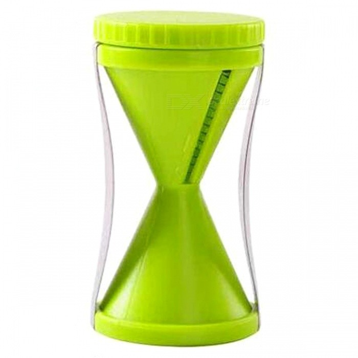 Multifunktionell Spiraltratt Rotary Hourglass Kitchen Cutter - Grön