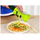 Multifonctionnel Spiral Funnel Rotary Hourglass Kitchen Cutter - Vert