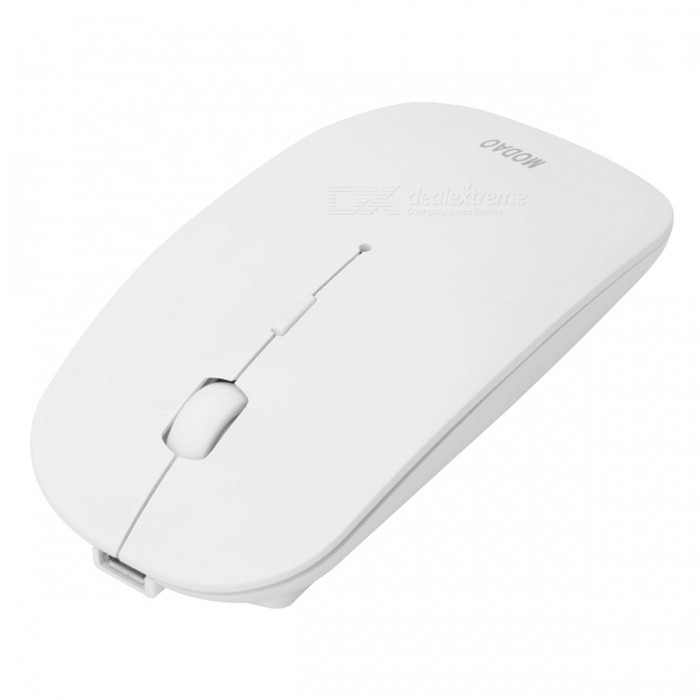 MODAO Slim Silent Rechargeable Bluetooth 3.0 Souris sans fil - Blanc