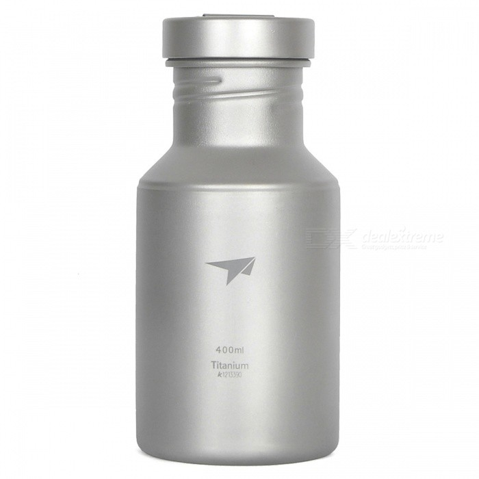 TI3030 400ml Titanium Water Bottle for Outdoor Camping, Travel
