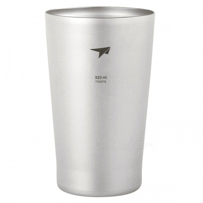 TI9221 320ML Titanium Travel Cup Mug, Tea Double Wall Beer MugForm  ColorSilver GreyModelTI9221Quantity1 pieceMaterialTitaniumBest UseFamily &amp; car camping,Camping,TravelCapacity320 mLTypeCups &amp; MugsPacking List1 x Cup<br>