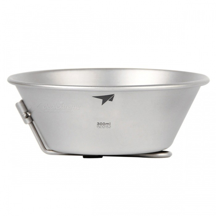 TI5320 Outdoor Camping Cookware 300ML Titanium Folded BowlForm  ColorSilver GreyModelTI5320Quantity1 pieceMaterialTitaniumBest UseFamily &amp; car camping,Camping,TravelCapacity300 mLTypeCooking Utensils,Hydration PacksPacking List1 x Titanium Folded Bowl (300ml)<br>