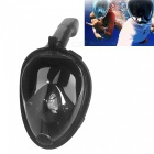 OUMILY L-XL Full Face Snorkeling Diving Swimming Mask for Gopro -Black