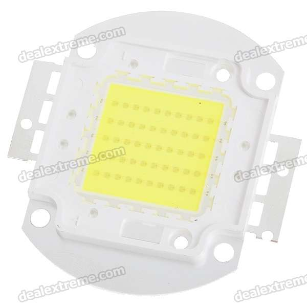 50W 4000LM LED Emitter Metal Plate - White (32~36V)