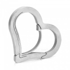 FURA Heart Shape Stainless Steel Anti-Lost Keychain Carabiner - Silver