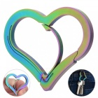 FURA Heart Shaped Stainless Steel Anti-Lost Keychain - Colorful