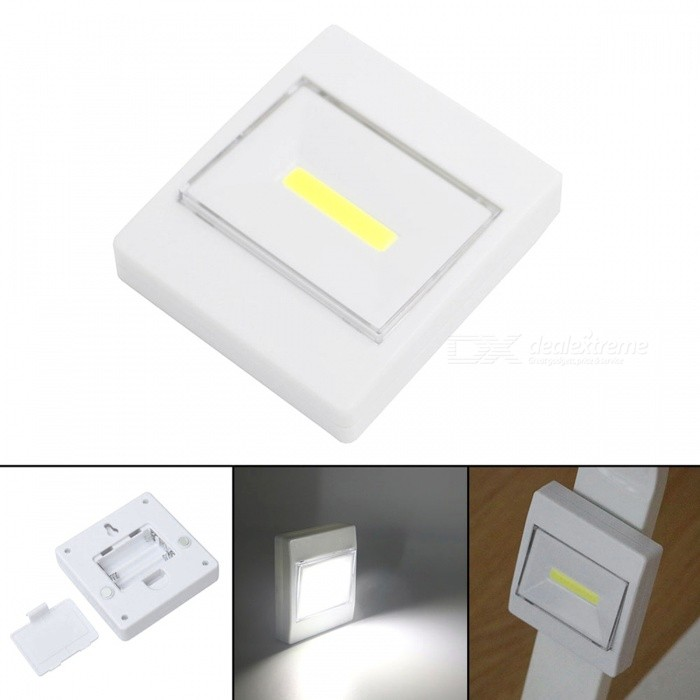 Jiawen 3W LED COB Lamp with Magnetic Emergency Switch Night LightLED Nightlights<br>Form  ColorWhiteMaterialPCQuantity1 piecePower3WRated VoltageOthers,4.5 VConnector TypeOthers,othersColor BINCold WhiteChip BrandCreeEmitter TypeCOBTotal Emitters1Theoretical Lumens240-300 lumensActual Lumens240 lumensColor Temperature12000K,Others,6000-6500KDimmableNoColor Temperature6000-6500KInstallation TypeWall MountPacking List1 x Switch light<br>