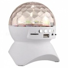 3W LED Disco Stage Light, Haut-parleur sans fil Bluetooth - Blanc