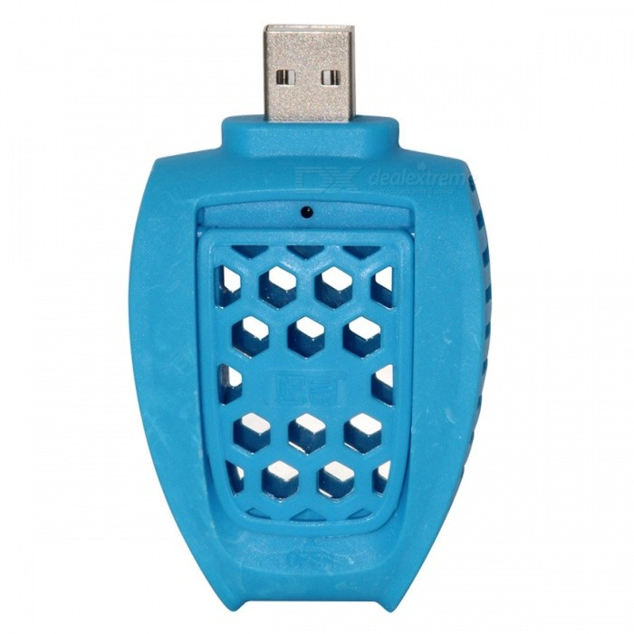 Portable USB Mosquito Repellent Killer - BlueForm  ColorBlueModelWCSDD0087MaterialABSQuantity1 DX.PCM.Model.AttributeModel.UnitPacking List1 x USB Mosquito Repellent Killer<br>