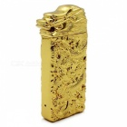 ZHAOYAO Dragon Head Style USB Electronic Cigarette Lighter - Golden