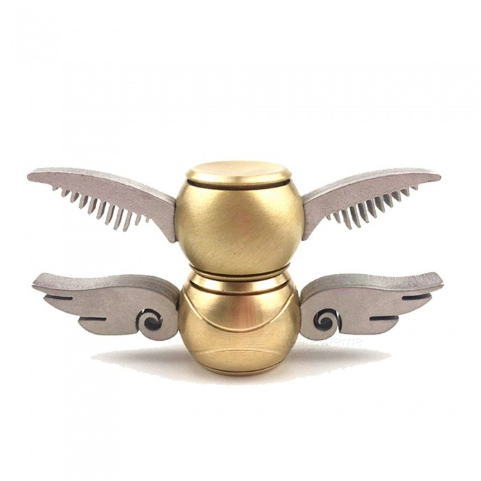 OJADE Snitch Harry Potter Quidditch Fidget Spinner Hand Toys (2 pcs)Finger Toys<br>Form  ColorGolden (2pcs)MaterialAlloyQuantity2 DX.PCM.Model.AttributeModel.UnitSuitable Age Grown upsPacking List2 x Spinners<br>