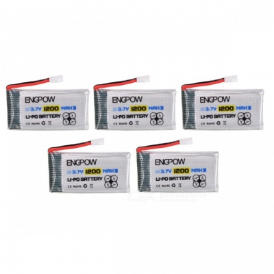 ENGPOW 3.7V 1200mAh Lipo Batteries for Syma X5 X5C X5SC RC Quadcopter